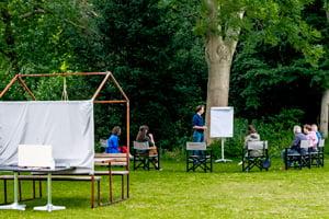 samenwerking verbeteren covid-19-proof op Te Werve Buiten bij Den Haag