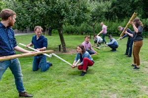 teambuilding op 1,5 meter afstand is op een natuurlijke wijze mogelijk