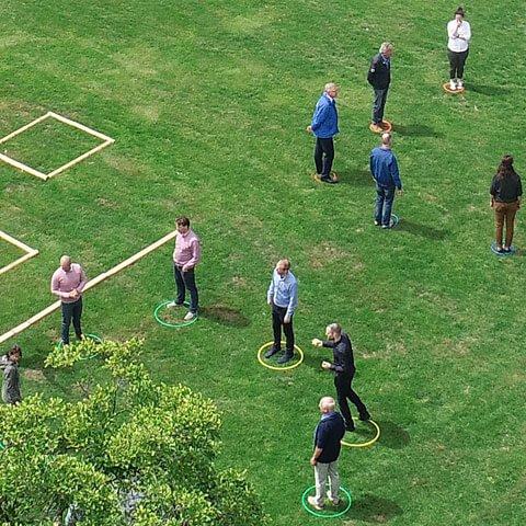 Maatregelen van Team4Teams voor teambuilding op 1,5 meter foto